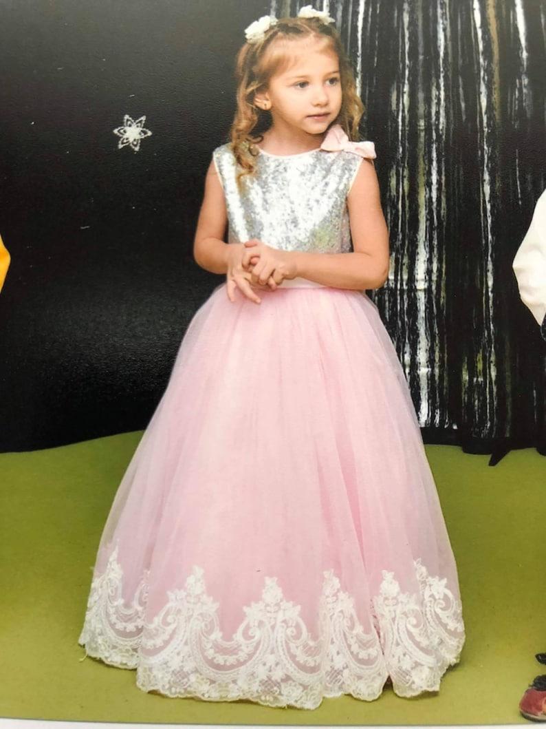 7812366817 Księżniczka cekin koronki Tutu sukienka dziewczyna kwiat