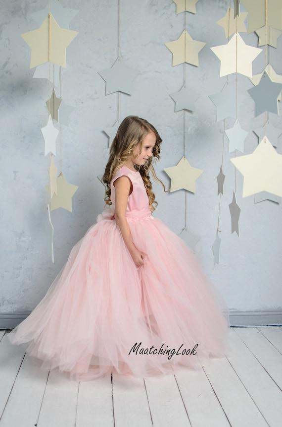 Flower girl dress blush pinkprincess dressblush baby girl etsy image 0 mightylinksfo