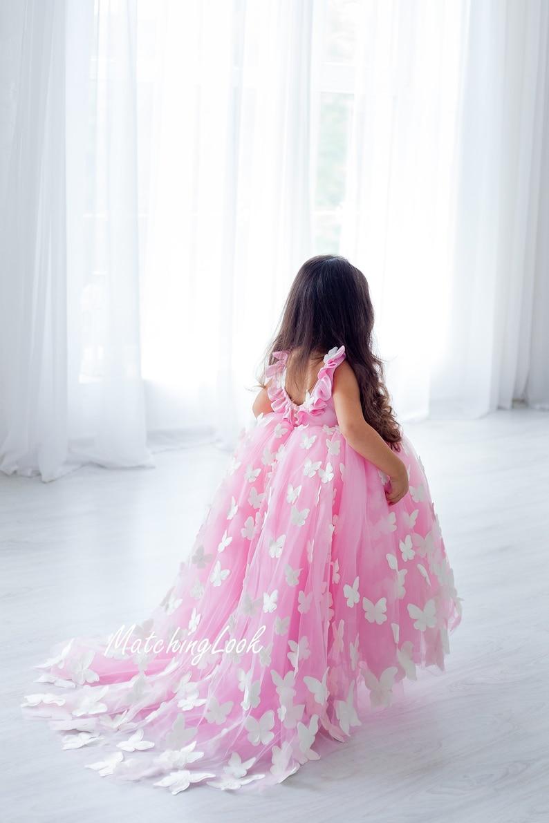 d2a5a630b Butterfly Tutu Dress Girls Princess Dress Flower Girl | Etsy