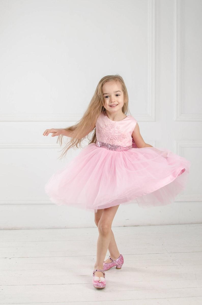 ab0e998576 Suknia różowa sukienka Tutu kwiat sukienka dziewczynka różowa