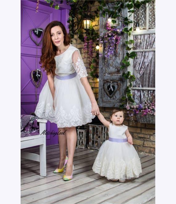 Passende Mutter Tochter Outfits Mutter Tochter Passende Kleider Mama Und Mich Outfits Passende Outfits Mama Und Mich Kleid Elfenbein Spitze