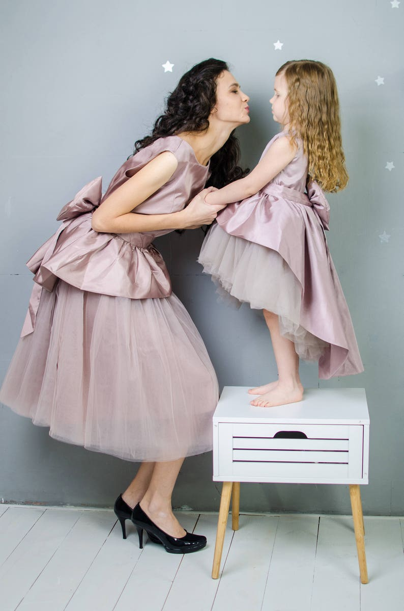 Matching Party Dresses Mother Daughter Matching Dress Outfits  264c0f085955
