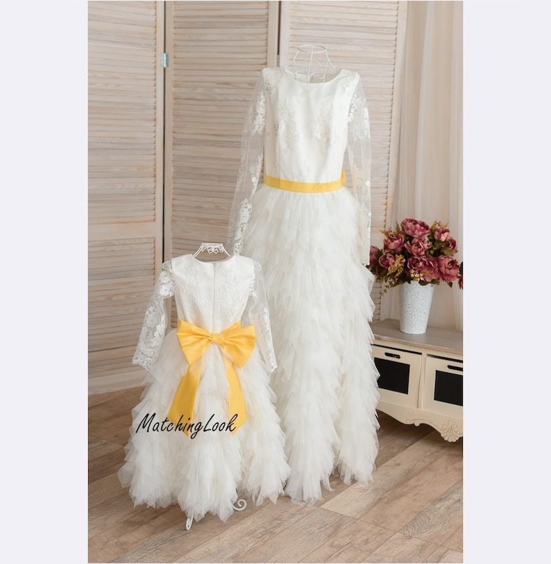 d0757a27c1 Mommy and Me outfits Mother daughter matching dress Ivory