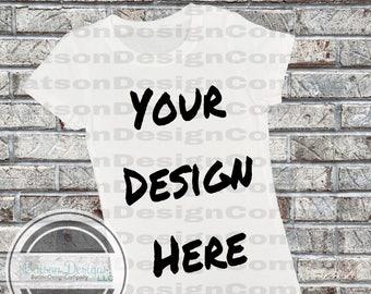 White Short Sleeve Shirt Mockup Instant Download T Shirt Top