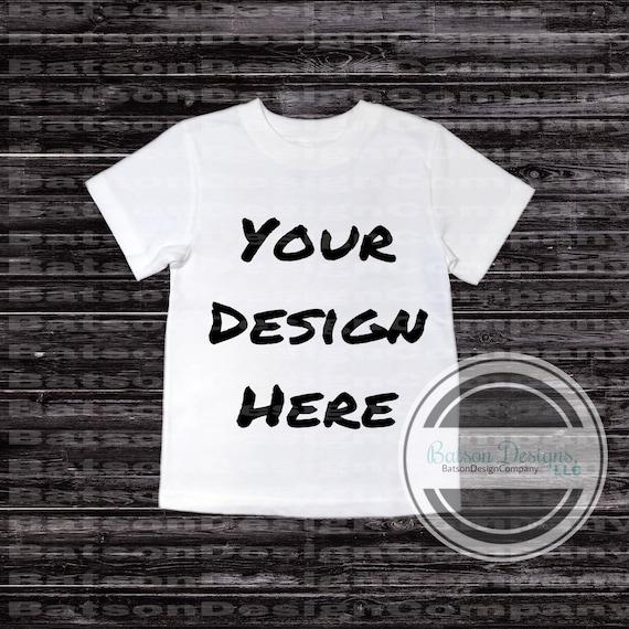 White Short Sleeve Crew Neck Shirt Mockup Instant Download Etsy
