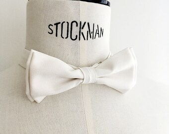 Crystal - amber white bowtie
