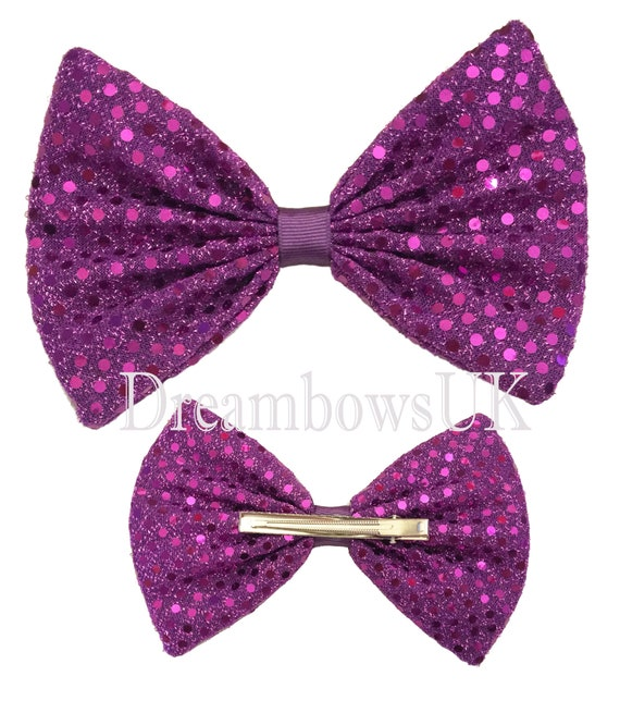 Hair Bow with Diamante/'s /& Crocodile Clip Different Colours Available