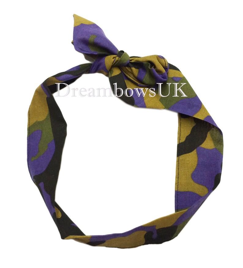 Girls camouflage fabric headband hair wrap girls hair image 0