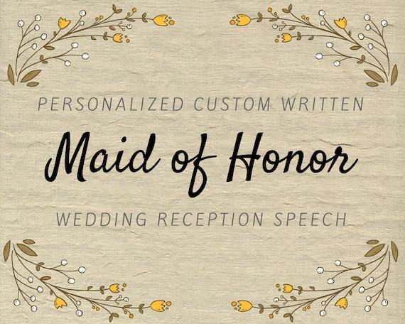 Matron honor toast