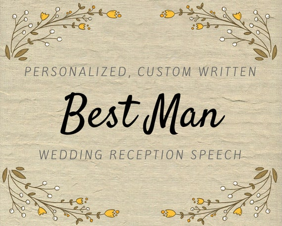Best Man Speech Wedding Speech Groomsman Toast Best Man Etsy