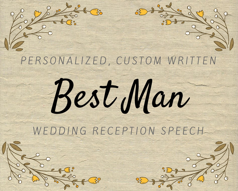 American wedding speech order