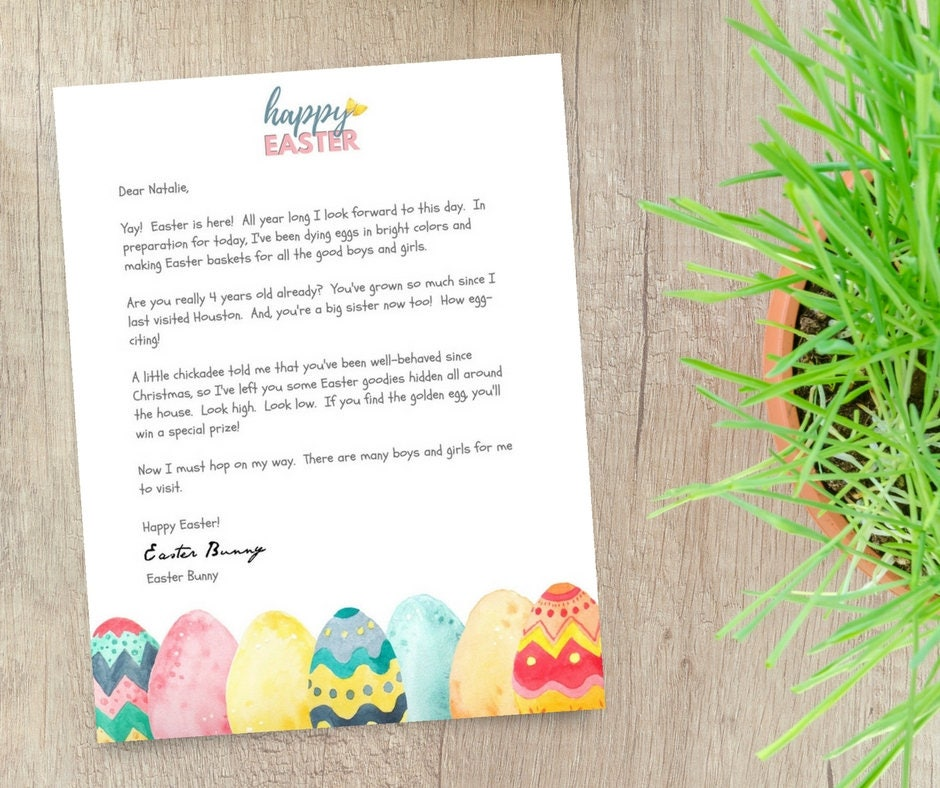 picture regarding Easter Stationery Printable referred to as Easter Stationery Editable Template - Printable Letter versus Easter Bunny - Pastel Watercolor Dyed Eggs Easter Paper Electronic Instantaneous Down load