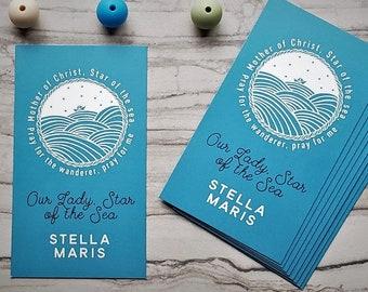 Star of the Sea Prayer Card