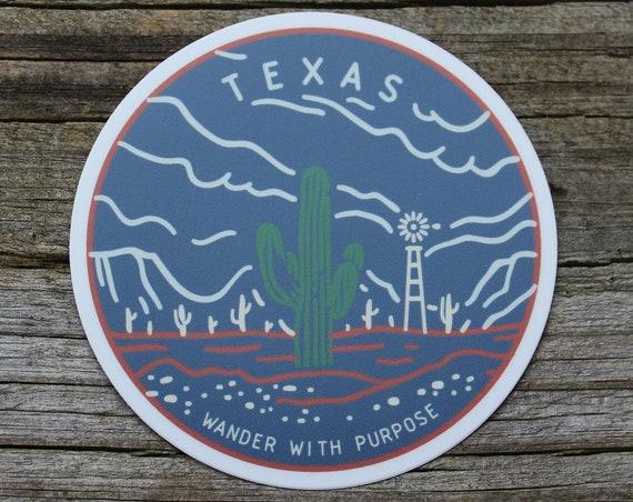 Wanderer Texas Sticker