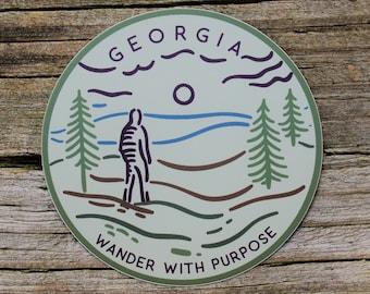 Wanderer Georgia Sticker