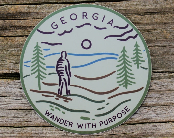 Wanderer Georgia Sticker