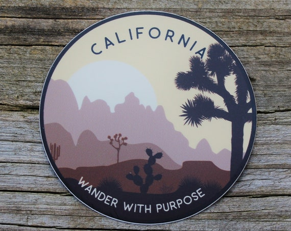 Wanderer California Sticker | Catholic Stickers for Water bottles, laptops, and cars