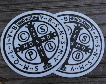 St. Benedict 1880 Jubilee Medal Sticker 2 pack
