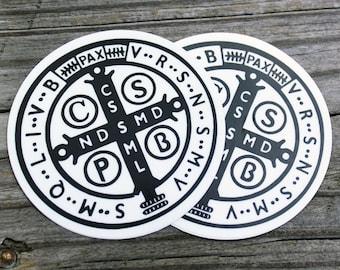 St. Benedict 1880 Jubilee Medal Sticker 2 pack