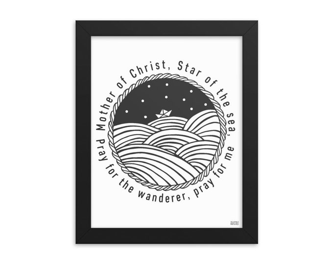 Star of the Sea Framed photo paper poster