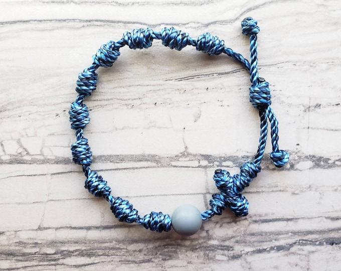 Wanderer Handmade Waterproof multi-color Twine Knotted Rosary Bracelet