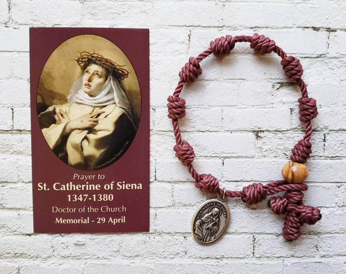 St. Catherine of Siena Rosary Bracelet - with medal