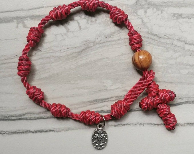 Rosary Bracelets - 17 twine colors to choose from - with Miraculous Medal