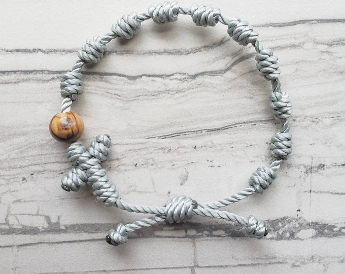 Rosary Bracelet - with wood bead