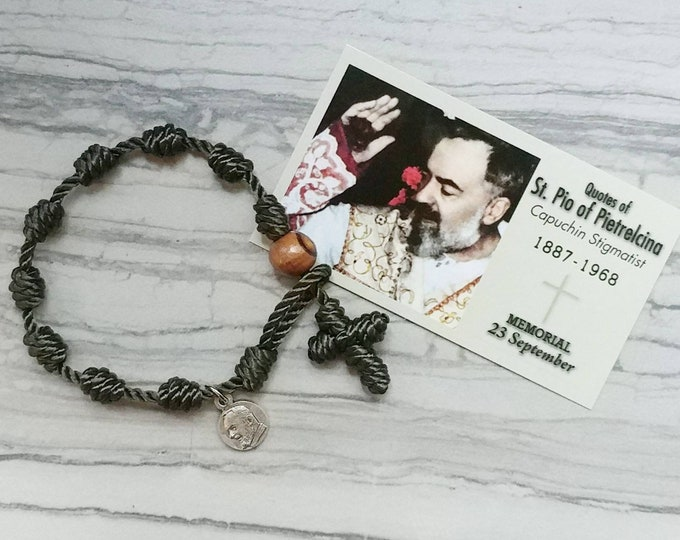 Padre Pio Rosary Bracelet - with charm