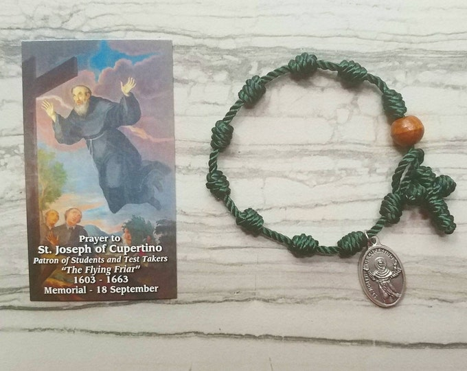St. Joseph of Cupertino Rosary Bracelet - with medal