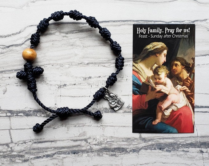 Holy Family Rosary Bracelet - with charm
