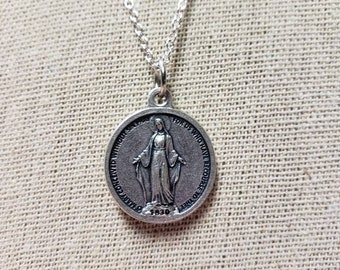 Round Miraculous Medal made in Italy