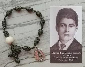 Blessed Pier Giorgio Frassati Rosary Bracelet - with charm