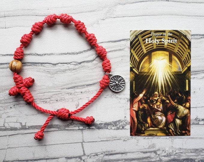 Holy Spirit Rosary Bracelet - with charm