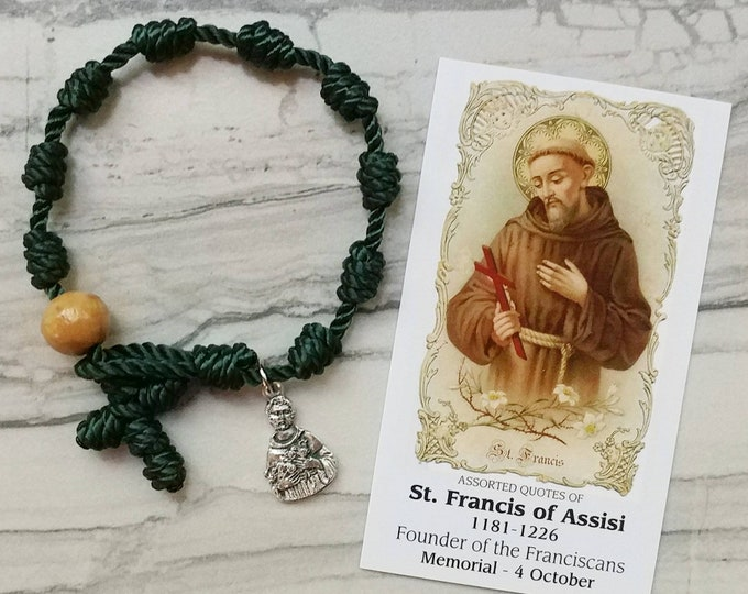 St. Francis of Assisi Rosary Bracelet - with charm