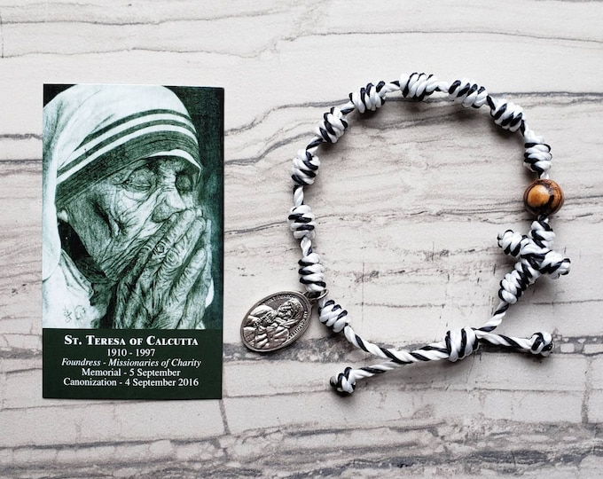 St. Teresa of Calcutta Rosary Bracelet - with medal
