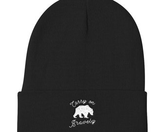 Carry on Bravely Bear Knit Beanie