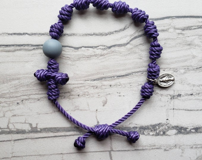 Rosary Bracelets - 21 twine colors to choose from - with mini Miraculous Medal