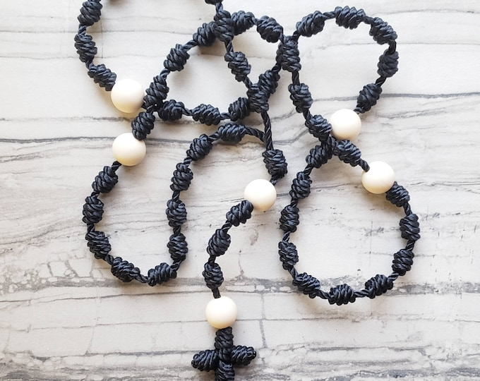 Wanderer Handmade Waterproof Twine Knotted Rosary