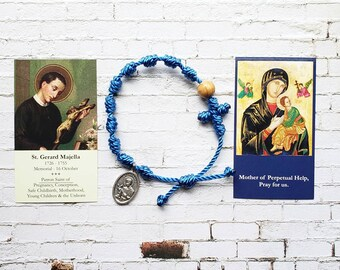 St. Gerard Majella / Our Lady of Perpetual Help Rosary Bracelet - with medal