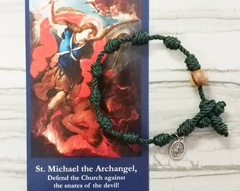 St. Michael the Archangel Rosary Bracelet - with mini medal