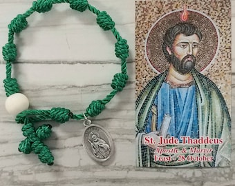 St. Jude Rosary Bracelet - with medal