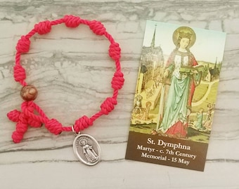 St. Dymphna Rosary Bracelet - with medal