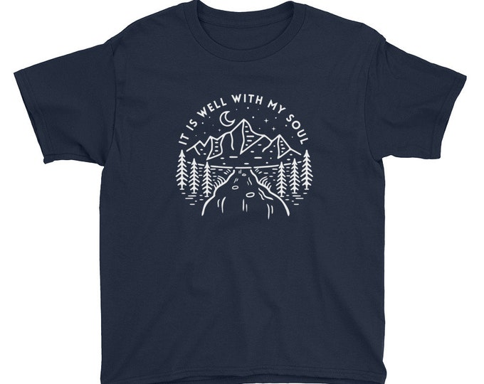 It is Well with My Soul Unisex Youth Short Sleeve T-Shirt