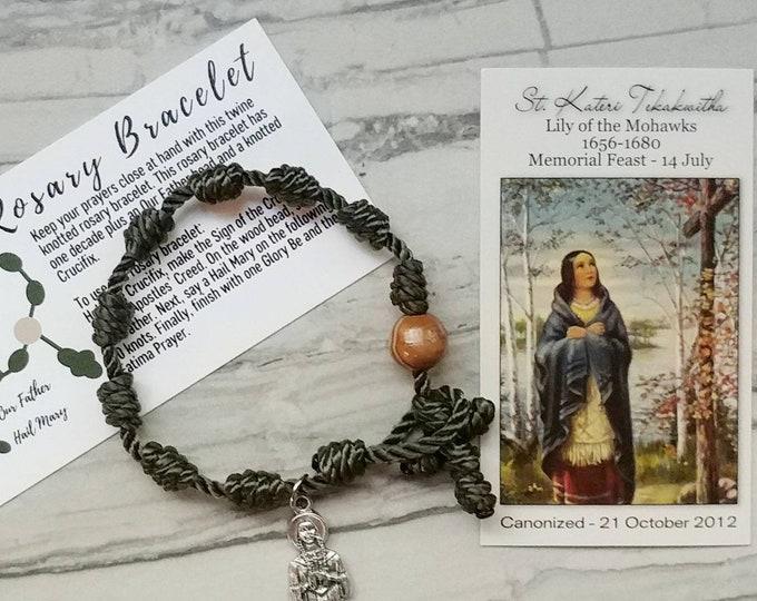 St. Kateri Rosary Bracelet - with charm