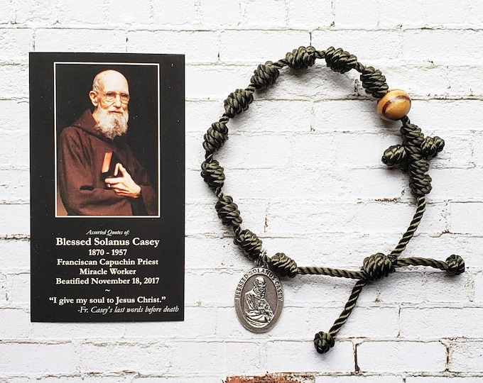 Blessed Solanus Casey Rosary Bracelet - with medal and prayer card