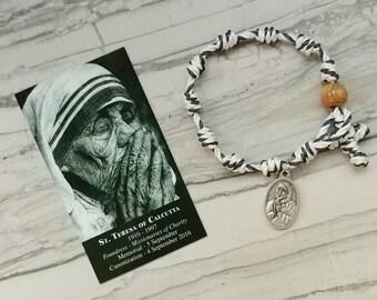 St. Teresa of Calcutta Rosary Bracelet - with medal