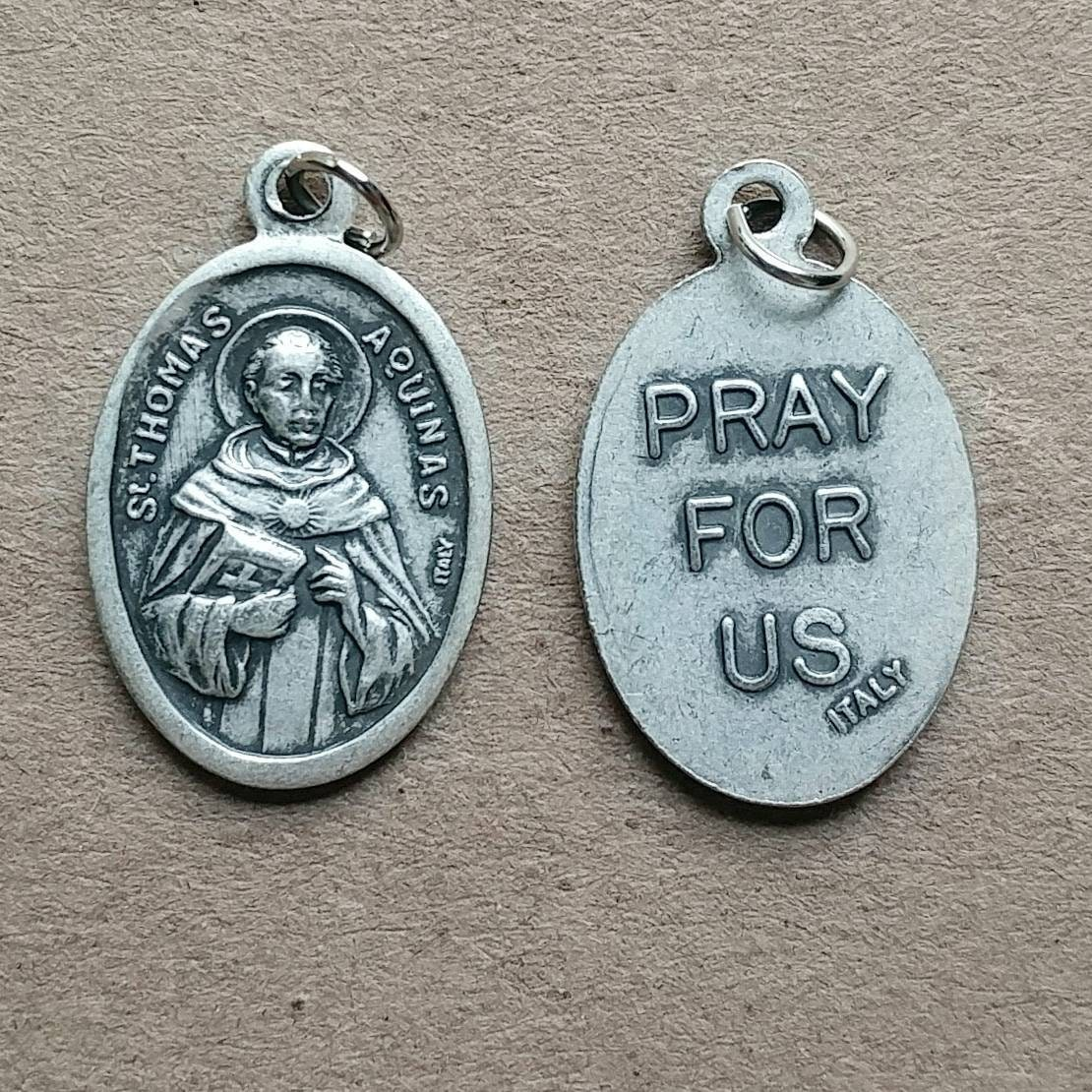 St Thomas Aquinas Twine Knotted Rosary With Renaissance Crucifix