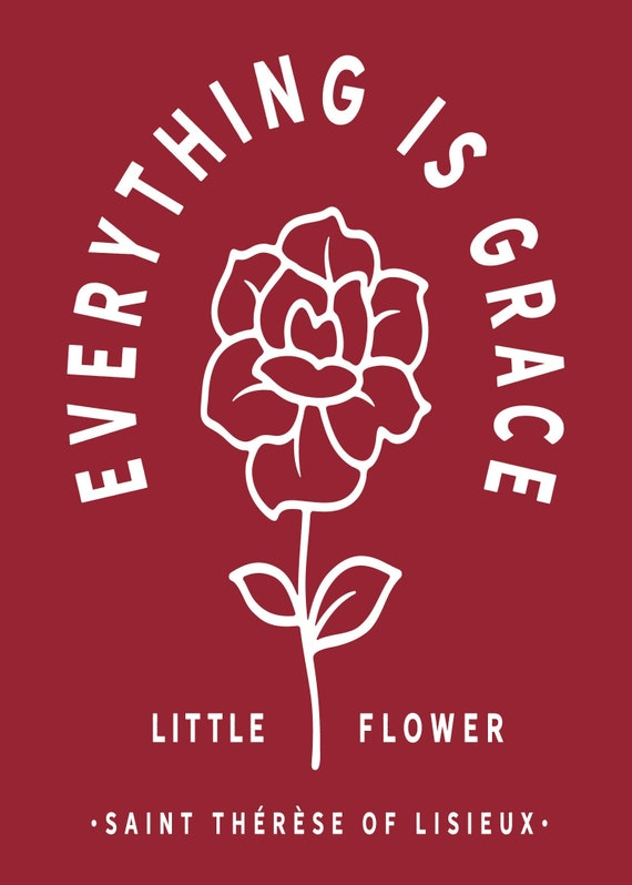 St. Therese of Lisieux Little Flower 5x7 Instant Print Download | Everything is Grace