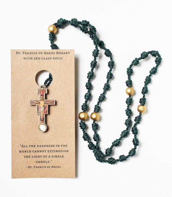 St Francis Of Assisi Rosary Etsy